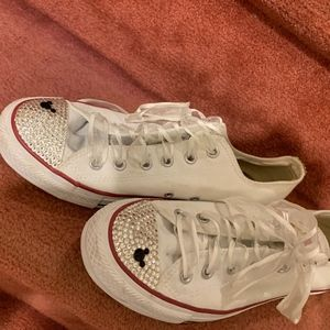 Mickey Mouse Glittered Vintage White Keds